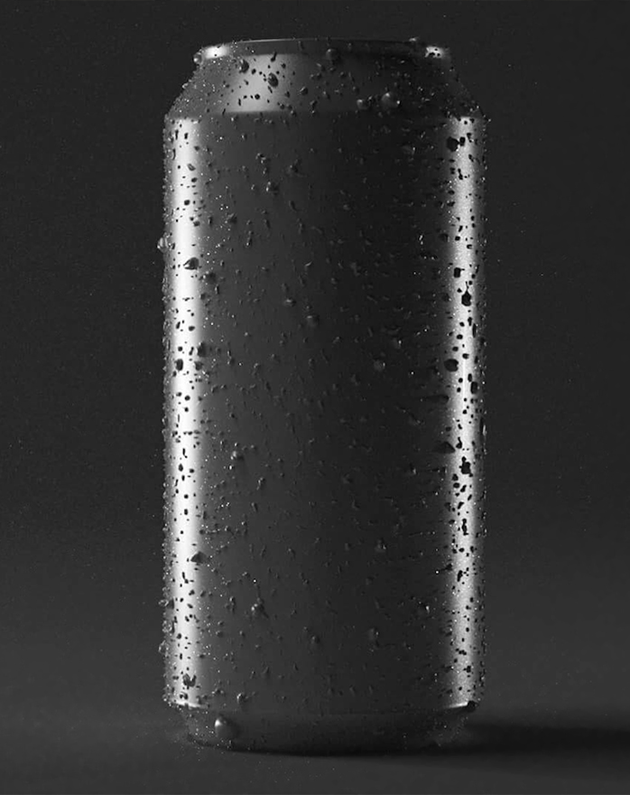 can with drops render without textures