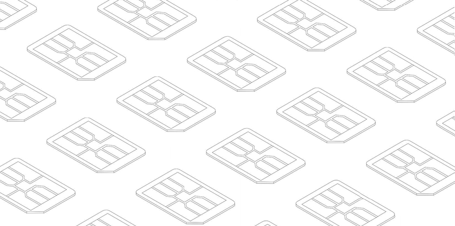 line art simcards isometric